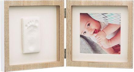 Набор для создания отпечатка ручки и ножки малыша Baby Art Двойная рамка Деревянная (3601098300) от Rozetka