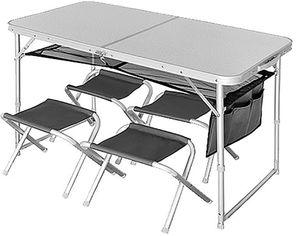 Комплект складной Norfin RUNN NF стол + 4 стула (NF-20310) от Rozetka