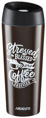 Акция на Термокружка Ardesto Coffee time Cup 450 мл Коричневая (AR2645DBB) от Rozetka
