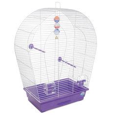 Акция на Клетка для птиц Природа Арка Большая 57 x 72 x 28 см Белая/фиолетовая (4823082415069) от Rozetka