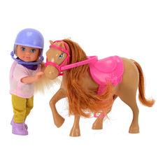 Акция на Набор Steffi & Evi love Эви и светло-коричневая пони (5737464-2) от Будинок іграшок