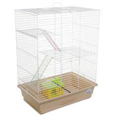Клетка для грызунов Природа Нюра 45 x 60 x 29 см С Домиком Белая/бежеваяя (4823082415243) от Rozetka