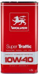 Моторное масло Wolver Super Traffic 10W-40 5 л (4260360942501) от Rozetka