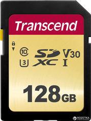 Transcend 500S SDXC 128GB Class 10 UHS-I U3 V30 (TS128GSDC500S) от Rozetka