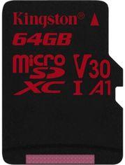 Kingston 64GB microSDXC Class 10 UHS-I U3 V30 A1 (SDCR/64GBSP) от Y.UA