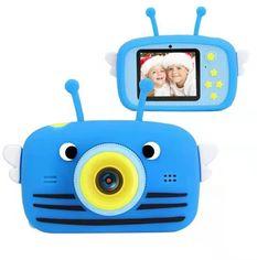 Цифровой детский фотоаппарат XoKo KVR-100 Bee Dual Lens голубой (KVR-100-BL) от Y.UA