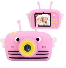 Цифровой детский фотоаппарат XoKo KVR-100 Bee Dual Lens розовый (KVR-100-PN) от Y.UA