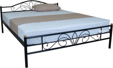 Двуспальная кровать Eagle Lucca 140 x 200 Black (E1922) от Rozetka