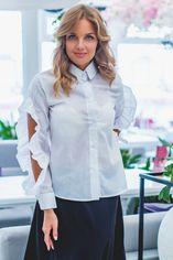 Блузка Remise Store V264 42 (S) Белая (2000000382364) от Rozetka