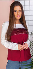 Блузка Remise Store V306 46 (L) Белая с бордовым (2000000383873) от Rozetka