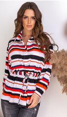 Блузка Remise Store V310 50 (2XL) Красная с белым (2000000384252) от Rozetka