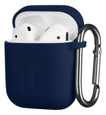 Акция на Чехол 2Е для Apple AirPods Pure Color Silicone Imprint (1.5mm) Navy от MOYO