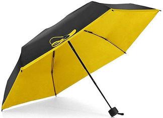 Зонт складной Supretto Pocket Umbrella 5072-0003 механический Черный с желтым (2000100014615) от Rozetka