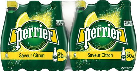 Упаковка минеральной газированной воды с лимоном Perrier 0.5 л х 24 бутылки (7613035696174) от Rozetka