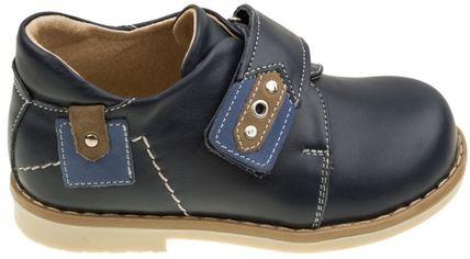 Акция на Туфли кожаные ортопедические Botiki Саймон ВТ-310 25 17.0 см Синие (28032618) от Rozetka