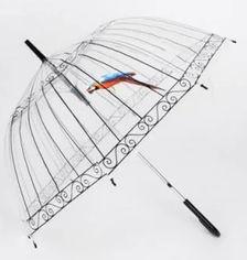 Зонт-трость Supretto 5052-0001 механический Прозрачный с декором (2100000005052) от Rozetka
