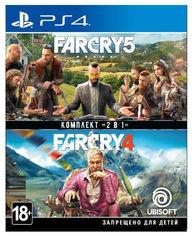 Диск Far Cry 4 + Far Cry 5 (Blu-ray, Russian version) для PS4 (8113476) от Citrus