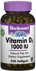 Витамины Bluebonnet Nutrition Витамин D3 1000IU 250 желатиновых капсул (743715003095) от Rozetka