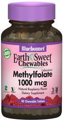 Витамины Bluebonnet Nutrition Earth Sweet Chewables Метилфолат (B9)1000 мкг Малина 90 жевательных таблеток (743715004559) от Rozetka