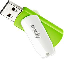 Apacer AH335 64GB USB Green/White (AP64GAH335G-1) от Rozetka