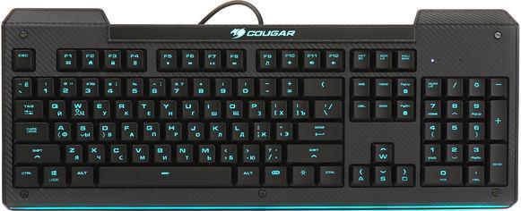 Акция на Клавиатура проводная Cougar Aurora USB Black от Rozetka