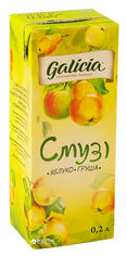 Акция на Упаковка сока с мякотью Galicia Смузи яблоко-груша 0.2 л х 27 шт (4820151002205_4820209561135_4820209560565) от Rozetka
