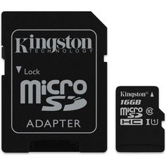 Карта памяти Kingston microSDHC 16GB Class 10 UHS-I R80MB/s + SD-адаптер от MOYO