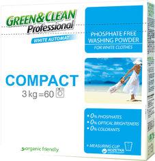 Стиральный порошок Green&Clean Professional Compact для белой одежды 3 кг (4823069702557) от Rozetka