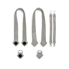 Набор ручки, фиксаторы, ремни на коляску эко-кожа MyMia серый (NV8803GREY) от MOYO