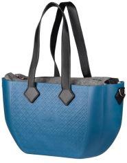 Сумка MyMia синий корпус/ серая подкладка/ набор (ручки, фиксаторы, ремни на коляску) эко-кожа, черный (NV8801P/02G/03B) от MOYO