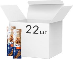 Акция на Упаковка жевательных палочек для взрослых собак Club 4 Paws Премиум дентал стикс 77 г х 22 шт (4820215363266) от Rozetka