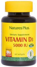 Витамины Nature's Plus Vitamin D3 5000IU 60 желатиновых капсул (97467010475) от Rozetka
