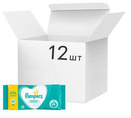 Упаковка детских влажных салфеток Pampers Sensitive 12 упаковок х 80 шт (8001841041414) от Rozetka