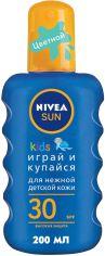 Акция на Детский солнцезащитный спрей Nivea Sun Играй и купайся SPF 30 200 мл (4005808854035) от Rozetka