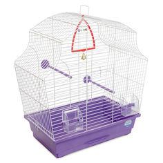 Клетка для птиц Природа Мери 51 x 55 x 27 см Белая/фиолетовая (4823082414987) от Rozetka