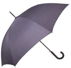 Зонт-трость мужской полуавтомат Doppler черный в полоску (DOP77267P-2) от Stylus