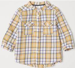 Рубашка H&M 6434638 74 см Горчичная (hm09006270527) от Rozetka
