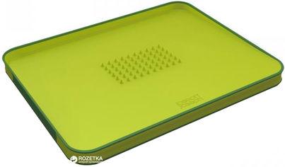 Акция на Разделочная доска Joseph Joseph Cut&Carve 37.5x29.5x2.5 см Зеленая (60001) от Rozetka