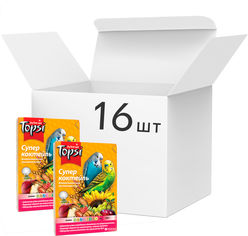 Акция на Упаковка корма для попугаев Topsi Супер коктейль 550 г 16 шт (14820122203614) от Rozetka