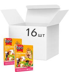 Упаковка корма для грызунов Topsi Супер меню 510 г 16 шт (14820122203621) от Rozetka
