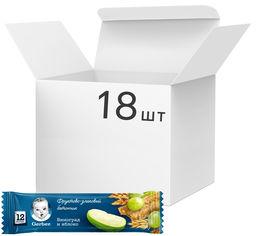 Упаковка фруктово-злаковых батончиков Gerber с виноградом и яблоком для детей с 12 месяцев 25 г х 18 шт (7613033688966) от Rozetka