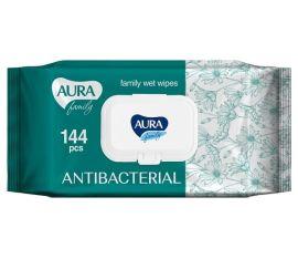 Антибактериальные влажные салфетки Aura, 144 шт. от Pampik