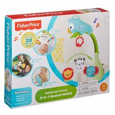 Акция на Мобиль Fisher-Price 3 в 1 Веселый попугай со звуковым эффектом (CHR11) от Будинок іграшок