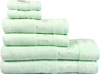 Акция на Махровое полотенце Maisonette Bamboo 76х152 Мятный (8699965120797) от Rozetka