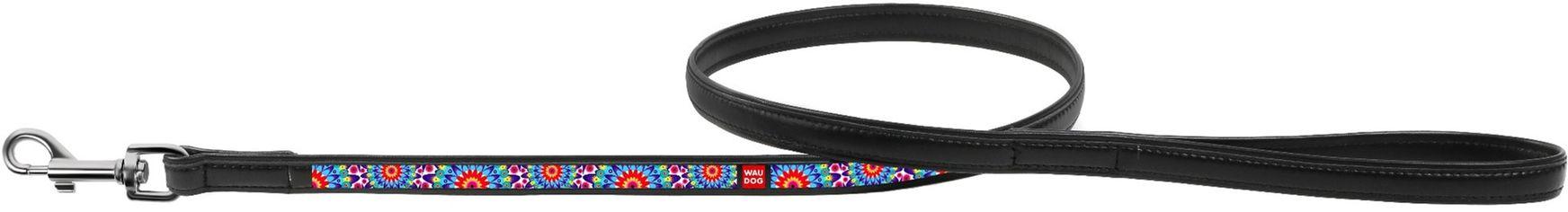 Акция на Поводок Collar WauDog с рисунком Цветы 122 см 25 мм Черный (37921) (4823089310015) от Rozetka