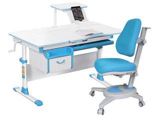 Акция на Комплект Evo-kids Evo-40 BL + кресло Y-110 KBL Голубой (Evo-40 BL + Y-110 KBL) от Rozetka