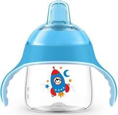 Чашка-непроливайка с носиком Avent 200мл 6 мес+ голубая (SCF746/02) от MOYO