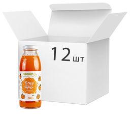 Акция на Упаковка сока тыквенного Спориш Смузи на тыкве с мякотью и сахаром пастеризованного 300 мл х 12 шт (4820216570250) от Rozetka
