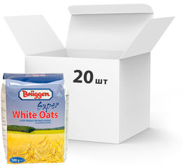 Упаковка овсяных хлопьев Bruggen Super White Oats 500 г х 20 шт (4008713763812) от Rozetka