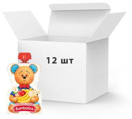 Упаковка фруктового пюре Bambolina Яблоко-банан с 6 месяцев 90 г х 12 шт (4813163002158) от Rozetka